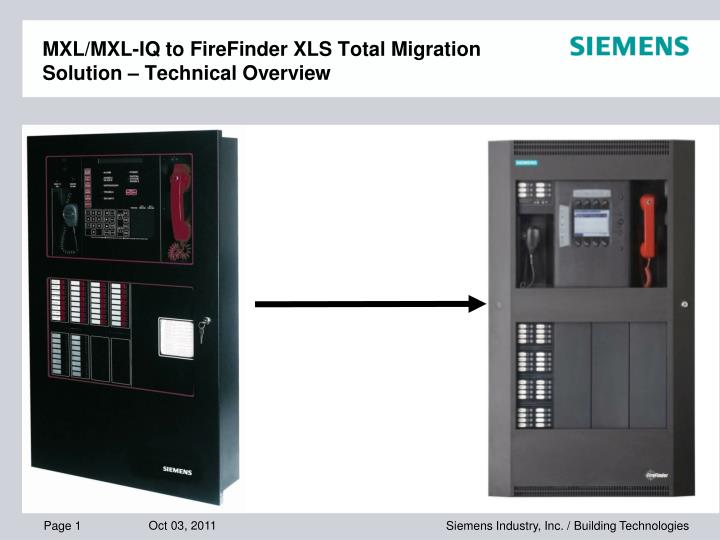 mxl mxl iq to firefinder xls total migration solution technical overview n.