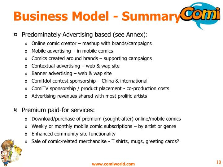 Business Model - Summary
