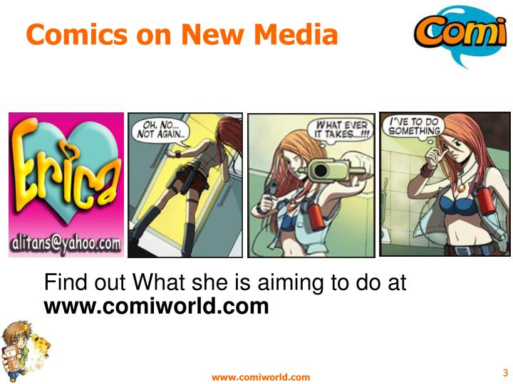 Comics on new media
