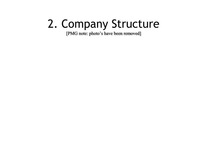 2. Company Structure