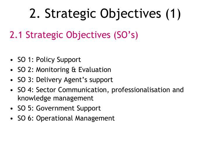 2. Strategic Objectives (1)