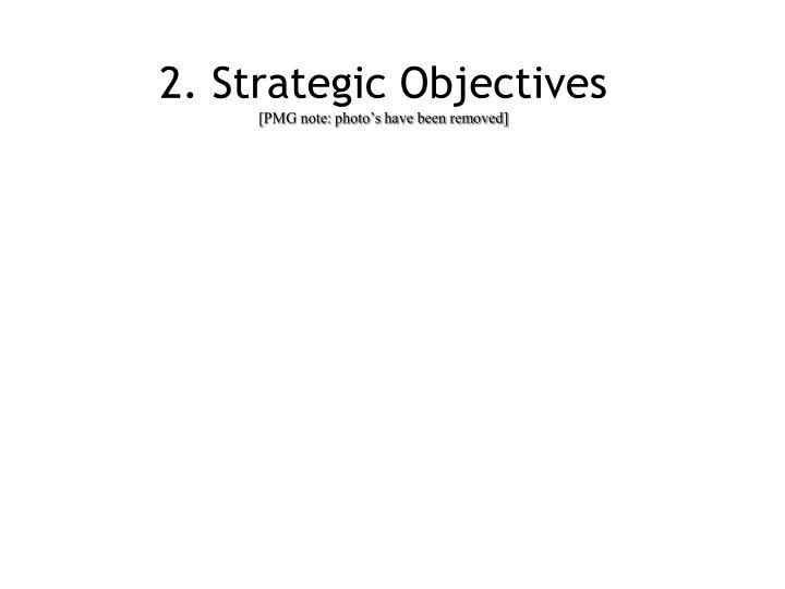 2. Strategic Objectives