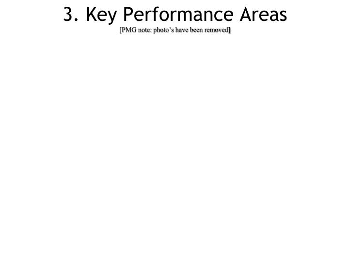 3. Key Performance Areas