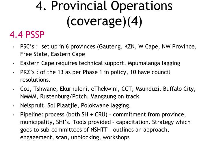 4. Provincial Operations (coverage)(4)
