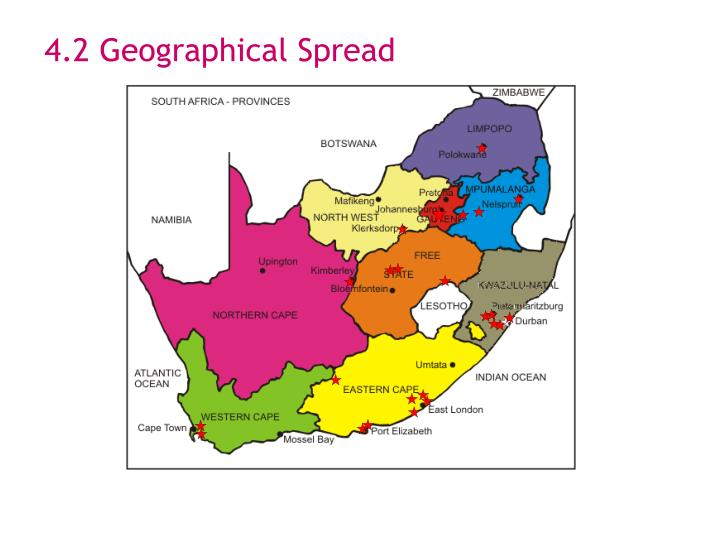 4.2 Geographical Spread