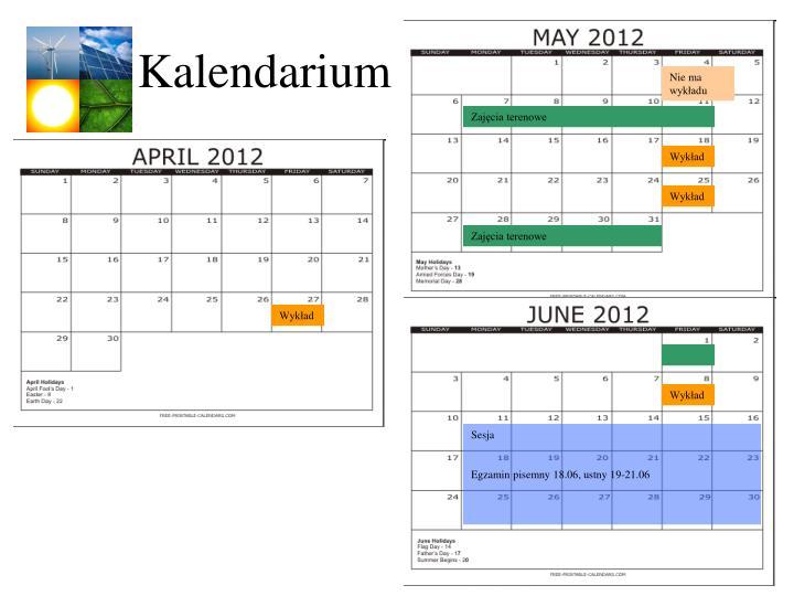 kalendarium n.