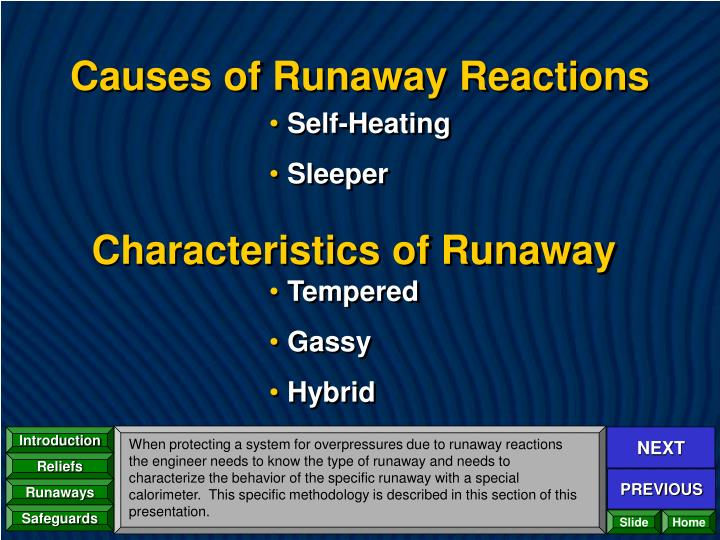 Causes of Runaway Reactions