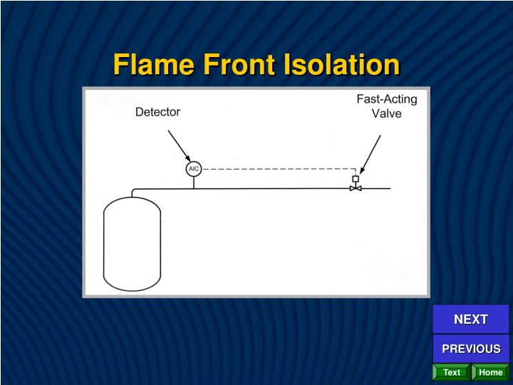 Flame Front Isolation