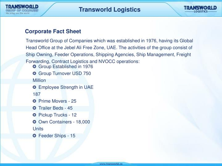 PPT - Corporate Fact Sheet PowerPoint Presentation - ID:3357154
