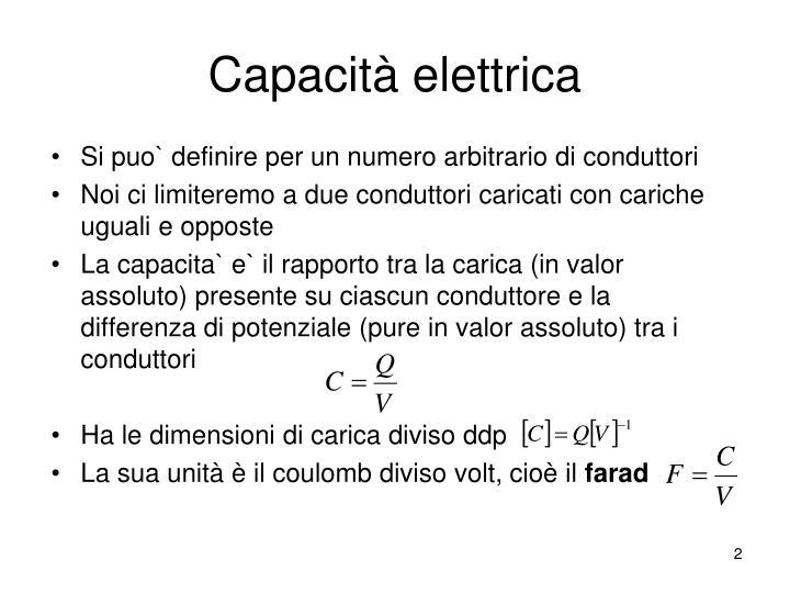 Capacit elettrica