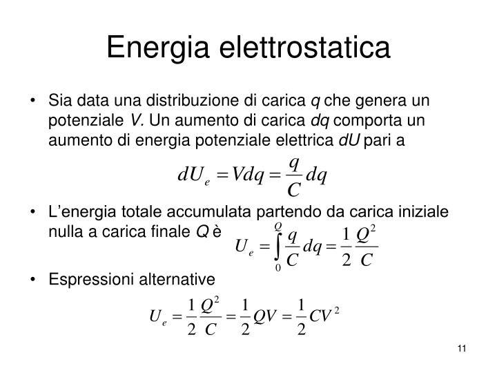 Energia elettrostatica