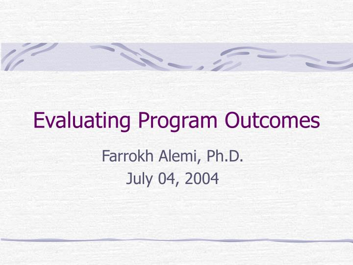 evaluating program outcomes n.