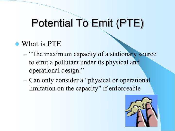 Potential To Emit (PTE)