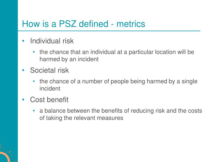 How is a PSZ defined - metrics