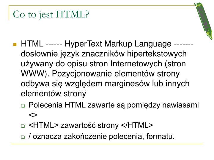 Co to jest HTML?