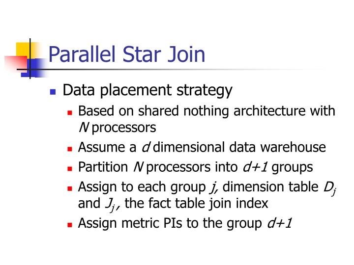 Parallel Star Join