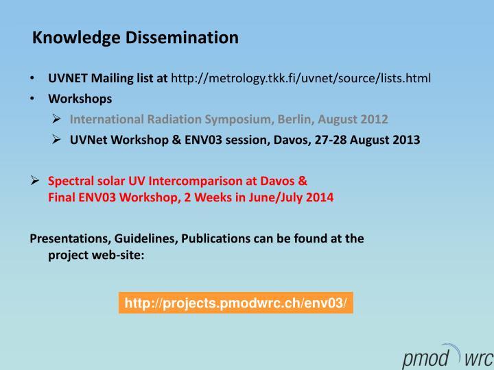 Knowledge Dissemination