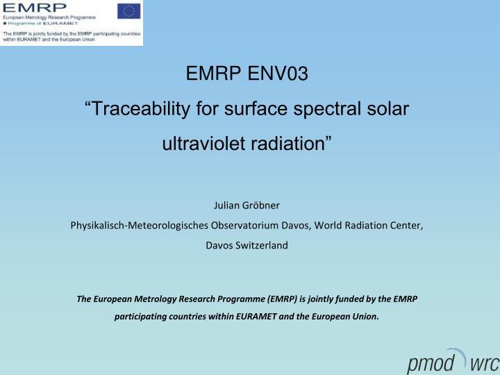 EMRP ENV03