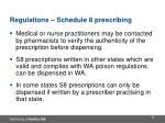 regulations schedule 8 prescribing4