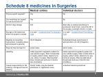 schedule 8 medicines in surgeries