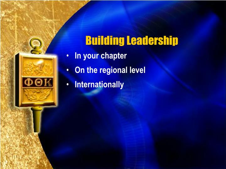 Building Leadership