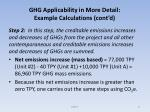 ghg applicability in more detail example calculations cont d7