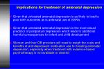 implications for treatment of antenatal depression