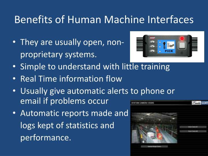 Benefits of Human Machine Interfaces