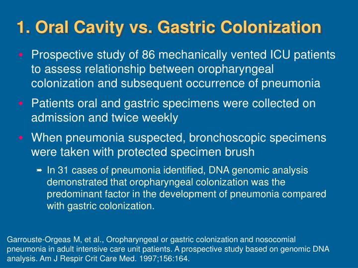 1. Oral Cavity vs. Gastric Colonization