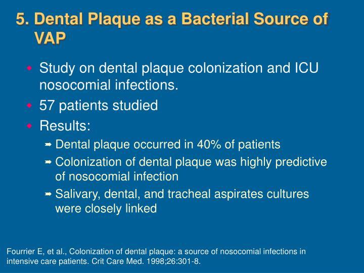 5. Dental Plaque as a Bacterial Source of VAP