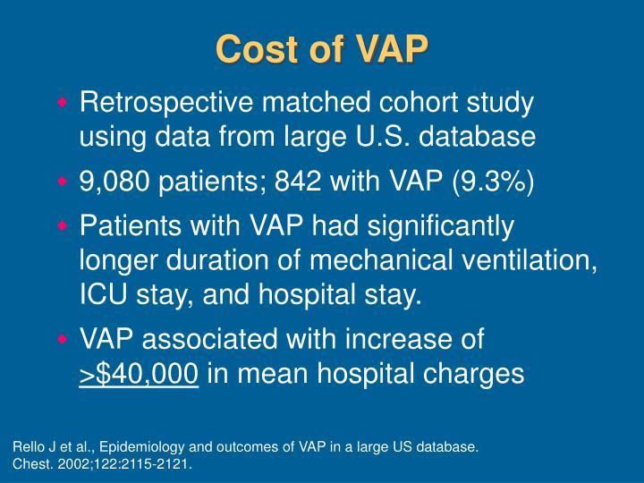 Cost of VAP