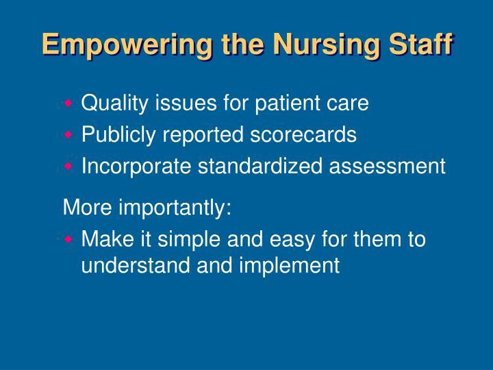 Empowering the Nursing Staff