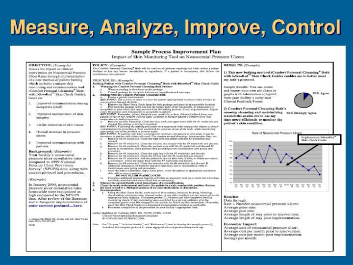 Measure, Analyze, Improve, Control