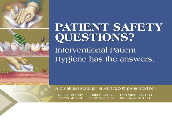 Improving patient safety clinical quality and unfunded mandates what icps should know