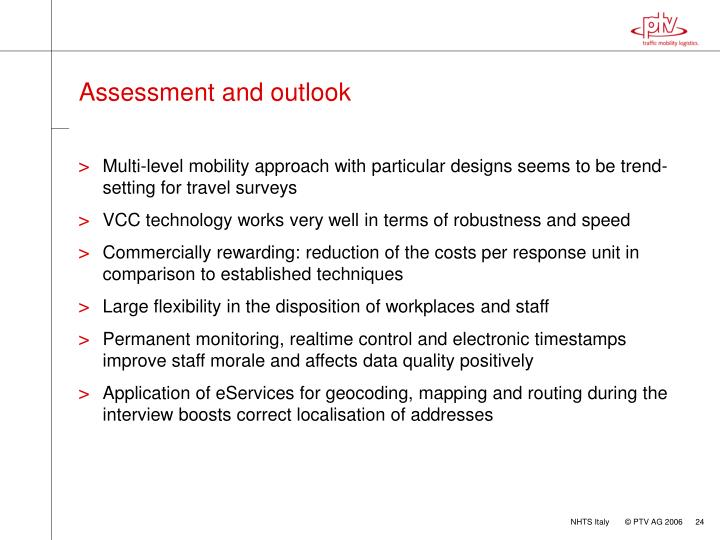 Assessment and outlook