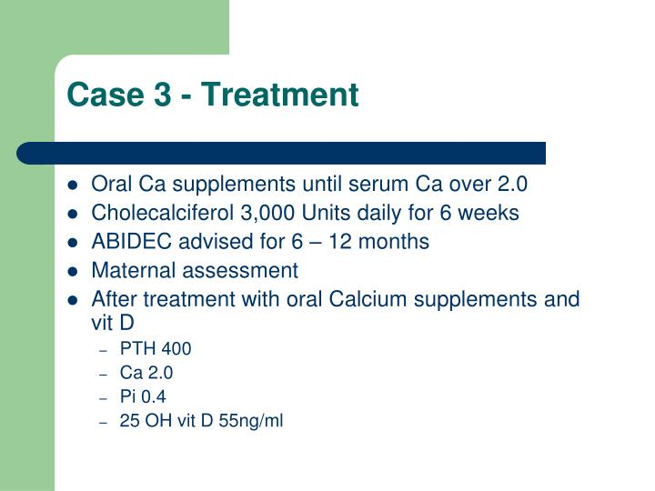 Case 3 - Treatment
