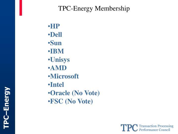 TPC-Energy Membership