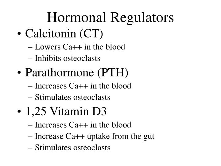 Hormonal Regulators