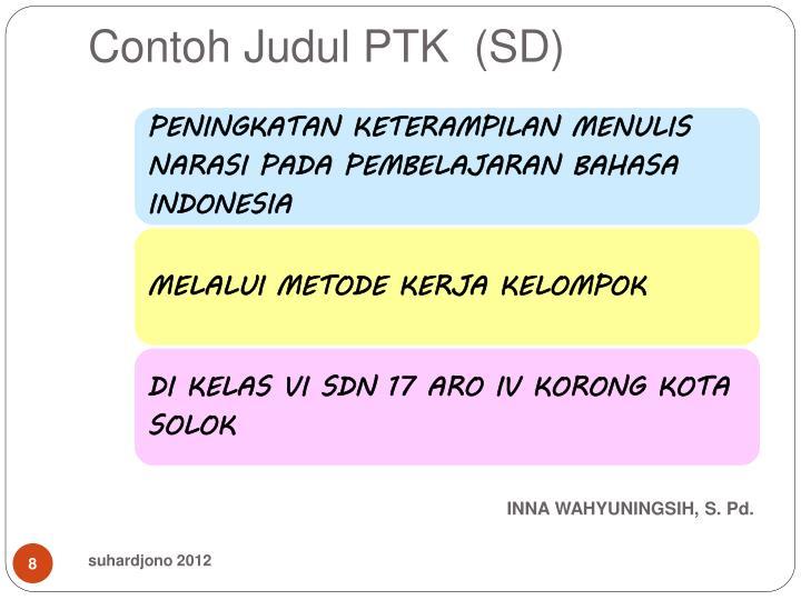 Contoh Judul PTK  (SD)