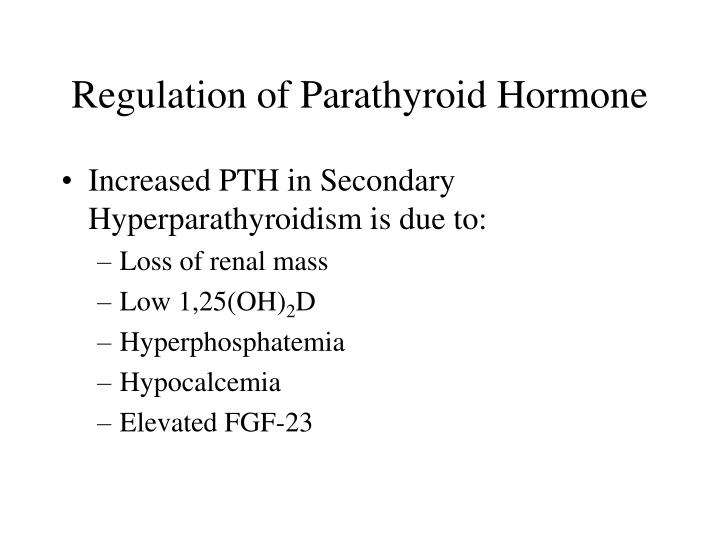 Regulation of Parathyroid Hormone