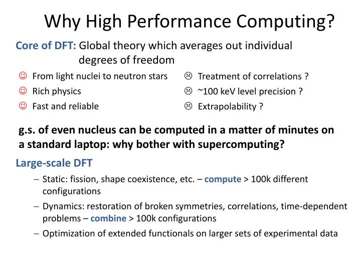 Why High Performance Computing?