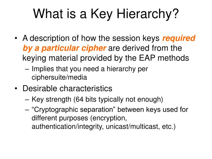 What is a Key Hierarchy?