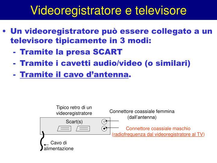 Videoregistratore e televisore