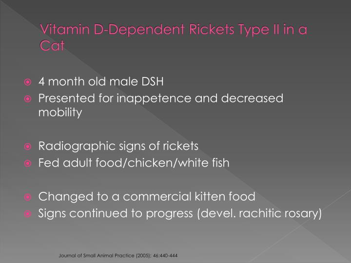 Vitamin D-Dependent Rickets Type II in a Cat