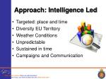 approach intelligence led