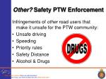 other safety ptw enforcement