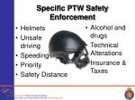 specific ptw safety enforcement