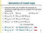 semantics of modal logic1