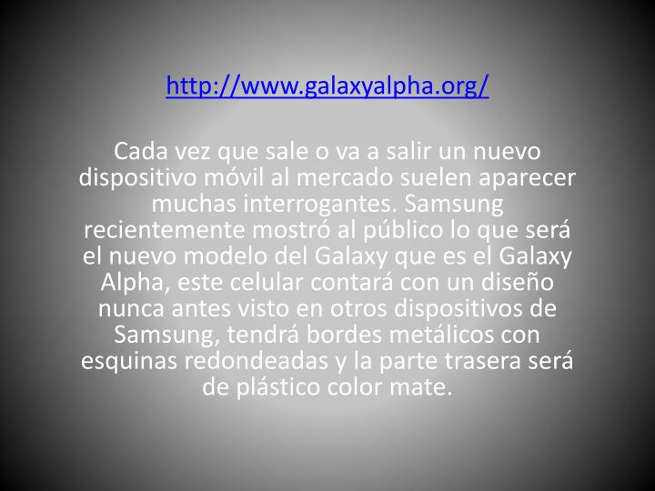 Http://www.galaxyalpha.org/