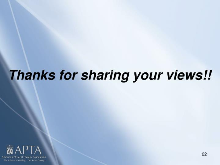 Thanks for sharing your views!!